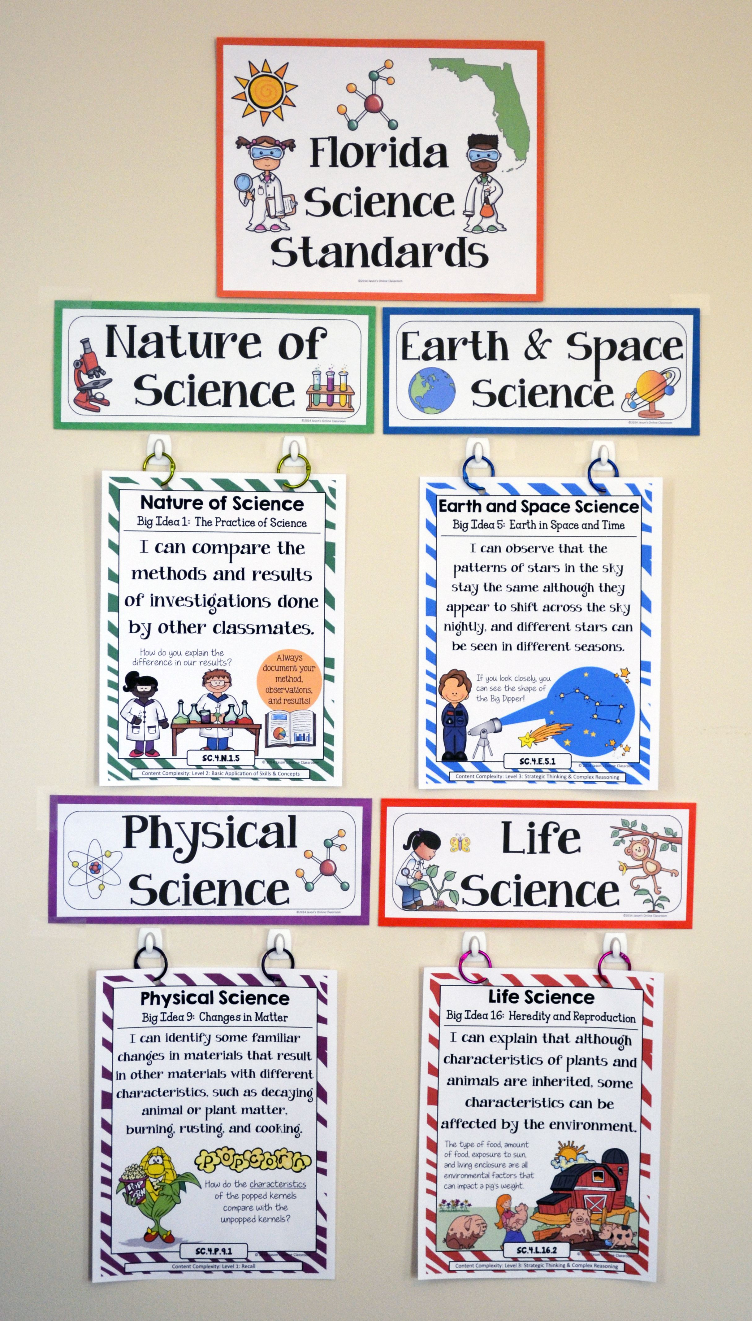 4th Grade Florida Science Standards I Can Statements Full Page