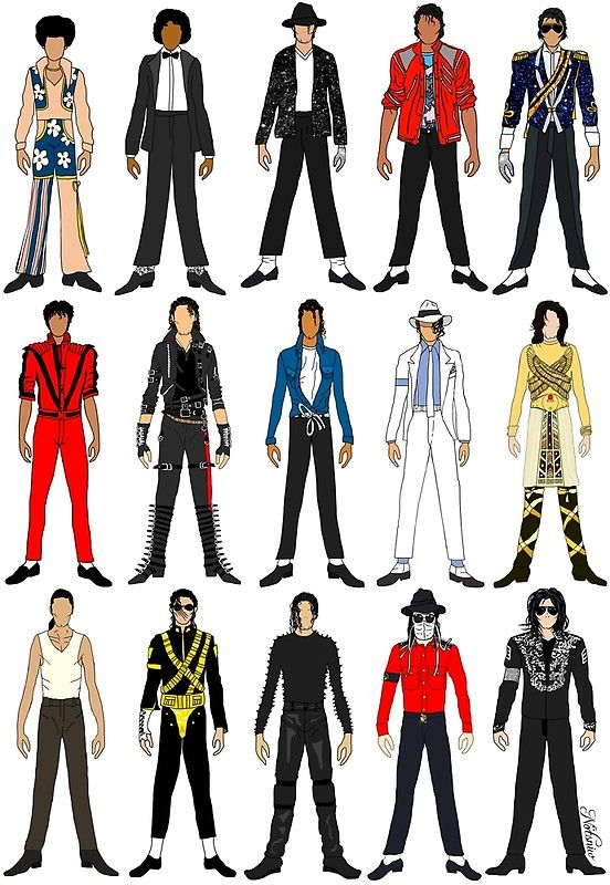 , 'Outfits of King Jackson Pop Music Fashion' Photographic Print by Notsniw Art, My Pop Star Kda Blog, My Pop Star Kda Blog