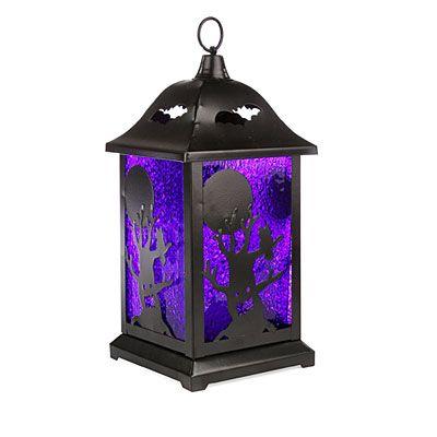 Glitter LED Metal Lantern at Big Lots Halloween Pinterest