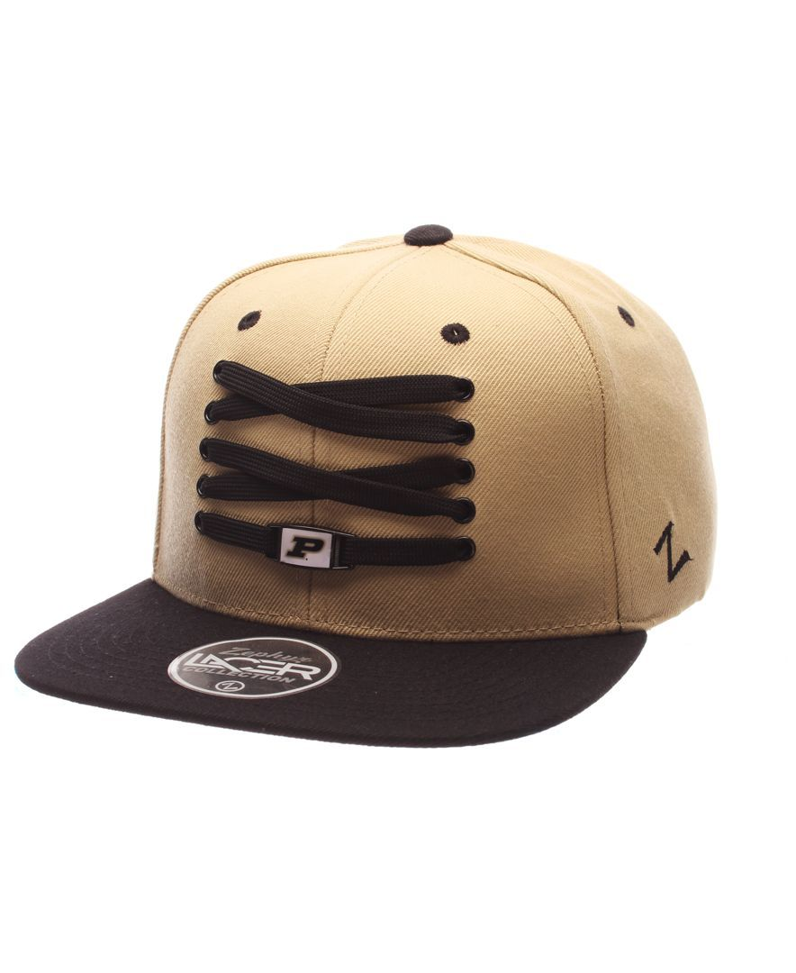 new arrival d5c68 9e003 ... reduced zephyr purdue boilermakers basketball lacer snapback cap 81ba9  0f592