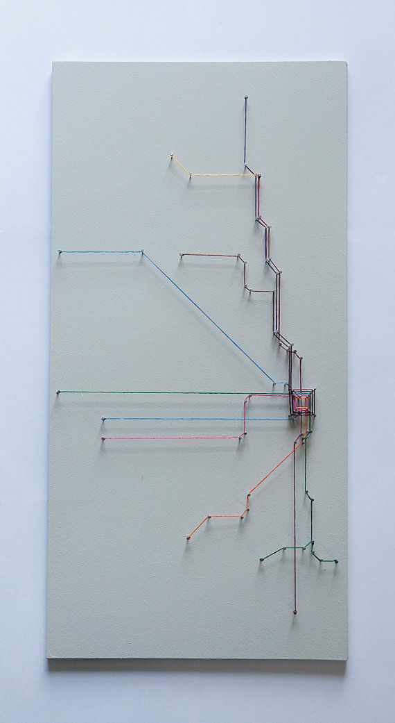 Chicago String Art Transit Map by SelerdorDesigns