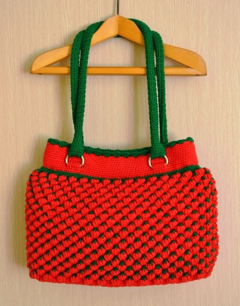 a56367c1fc56 Crochet strawberries bag. Special request.  purses4u