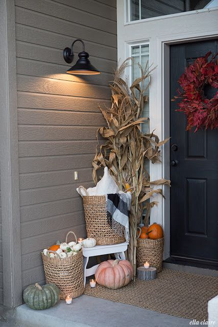 Luxury Fall Porch Decorating Ideas Pictures