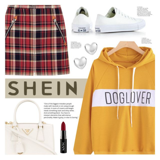 """""""Lover"""" by arrow1067 ❤ liked on Polyvore featuring rag & bone, Converse, Prada, NYX and shein"""