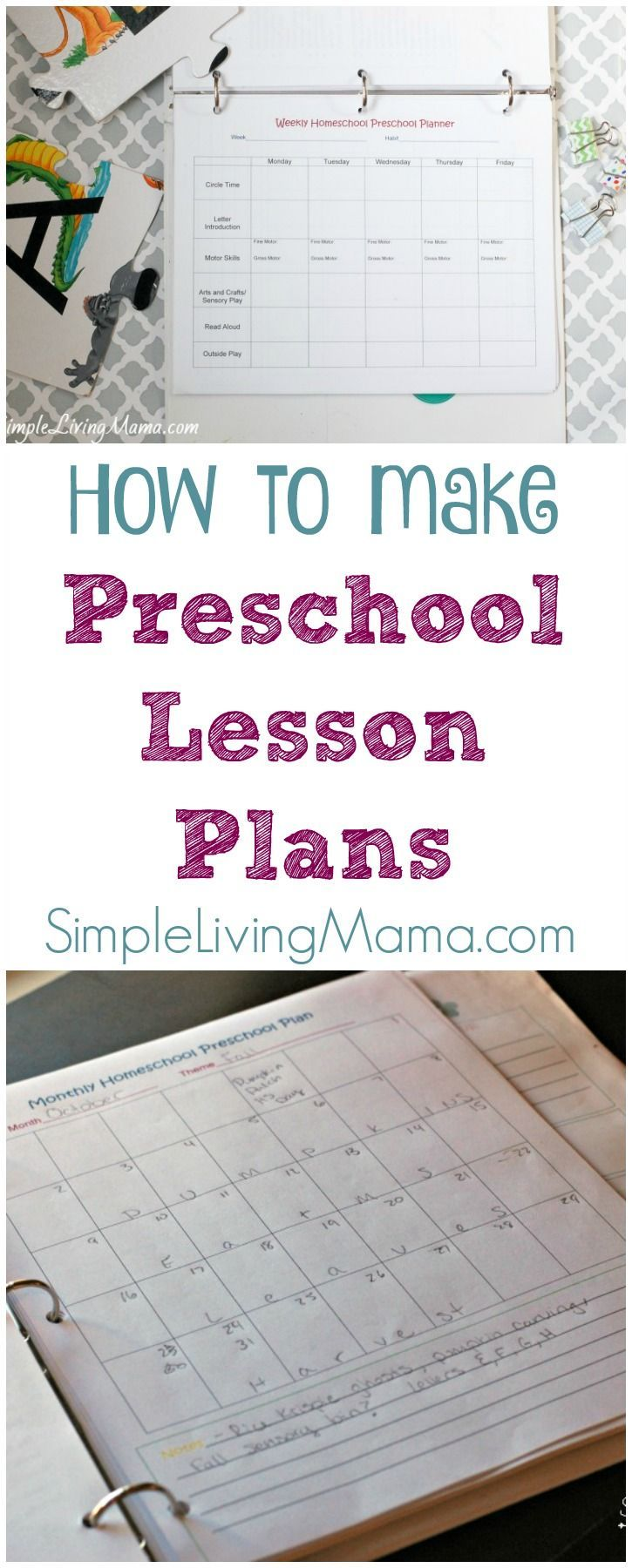 How To Make Preschool Lesson Plans