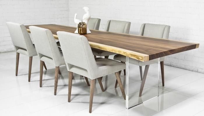 Eco Slab Dining Table With Lucite Plinth Legs Legs Search and