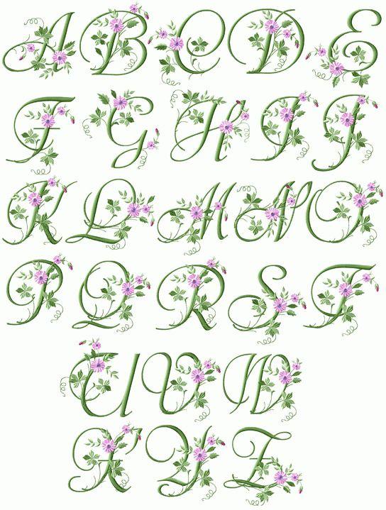 "ABC Designs Flores Alphabet Machine Embroidery Designs 4/""x4/"" hoop"