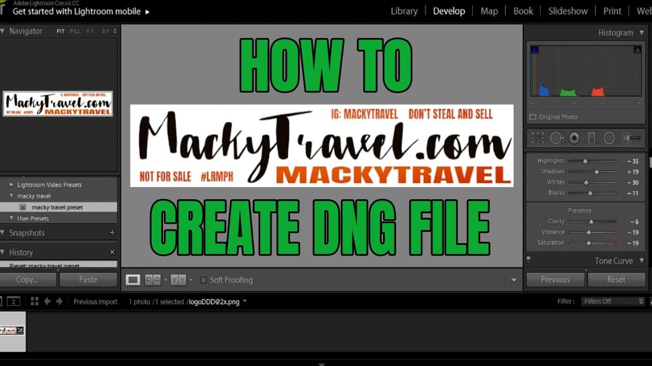 How to Create DNG Mobile Lightroom Presets | Android Games