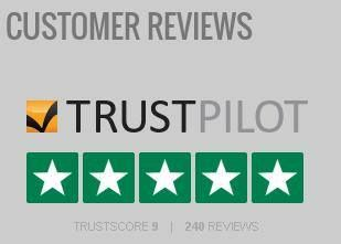 We are now a 5* rated company on Trustpilot! 90% of our 240 customer reviews have been 4 out of 5 or above