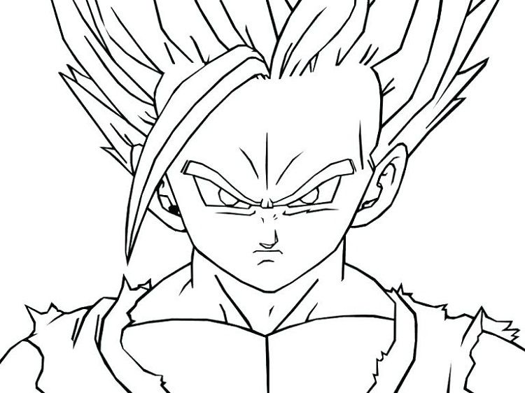 Dragon Ball Z Coloring Pages Free Printable Dragon Ball Image Dbz Drawings Goku Drawing
