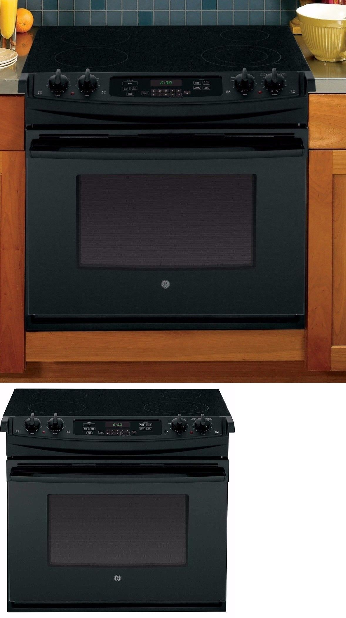 Electric kitchen stoves  Ranges and Stoves  Ge  DropIn Electric Range Black Jdsd