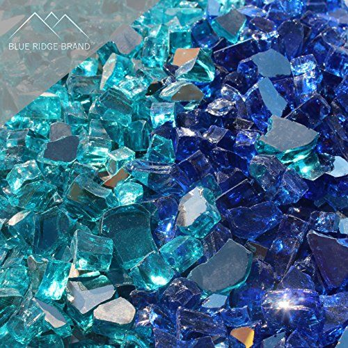 Decorative Fire Pit Glass Pellets Blue Ridge Brand Reflective Fire Glass Blend 10pound Professional Grade Fir Fire Pit Glass Rocks Glass Fire Pit Fire Glass