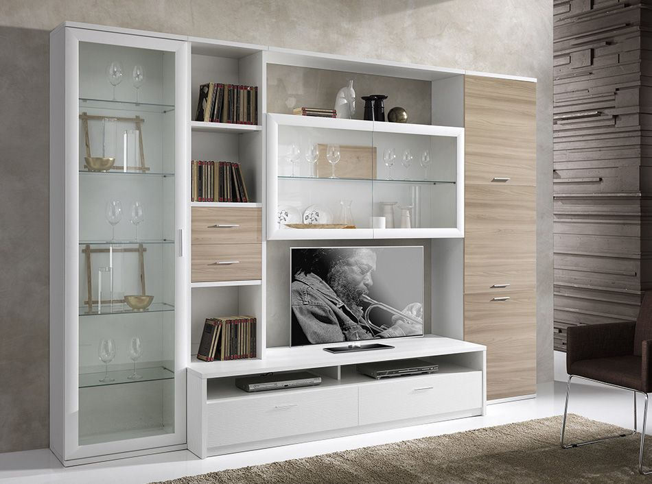 Luxury Wall Display Cabinet with Lights