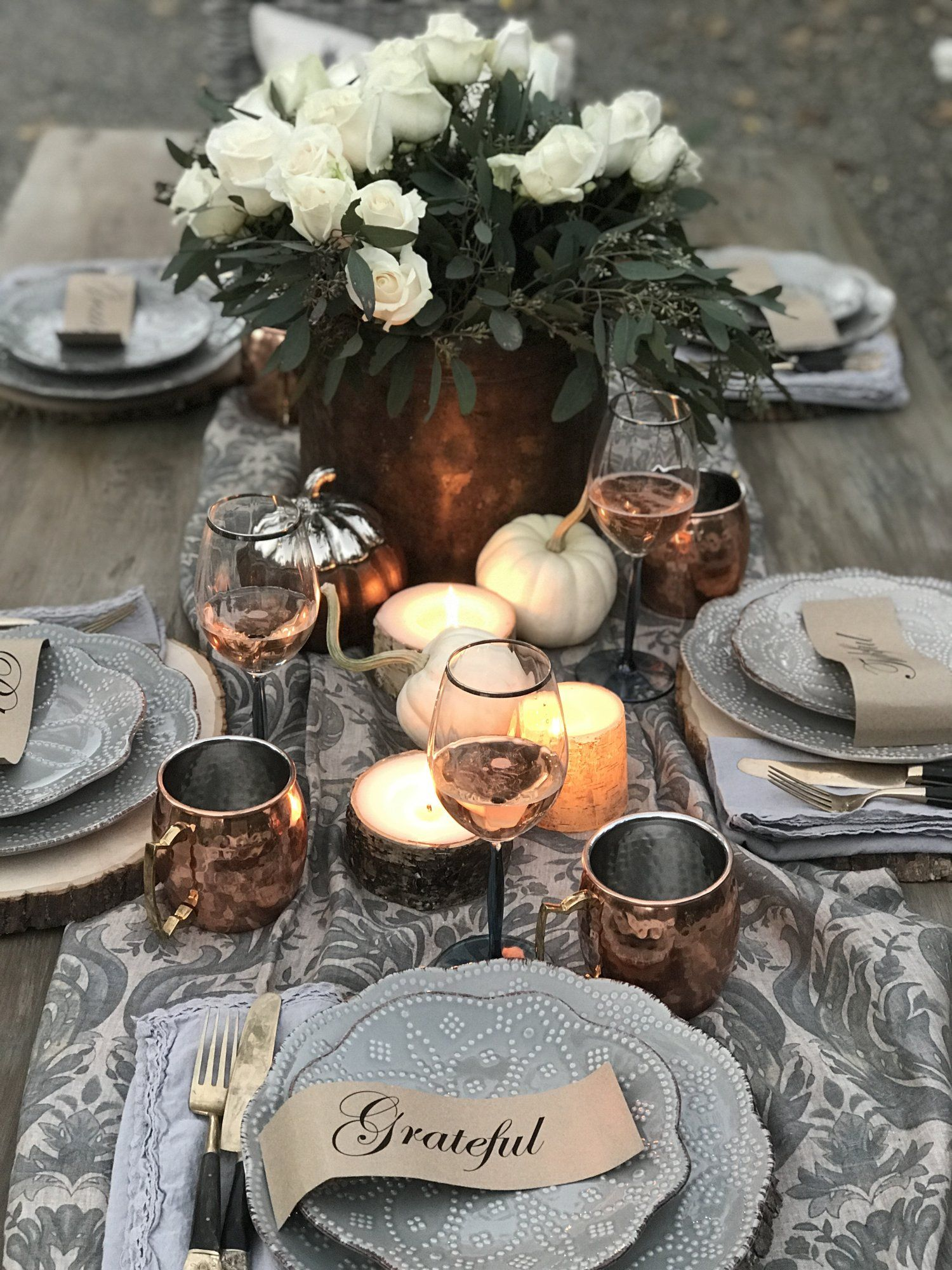 Fall Tablescape FREE PRINTABLE in 2018