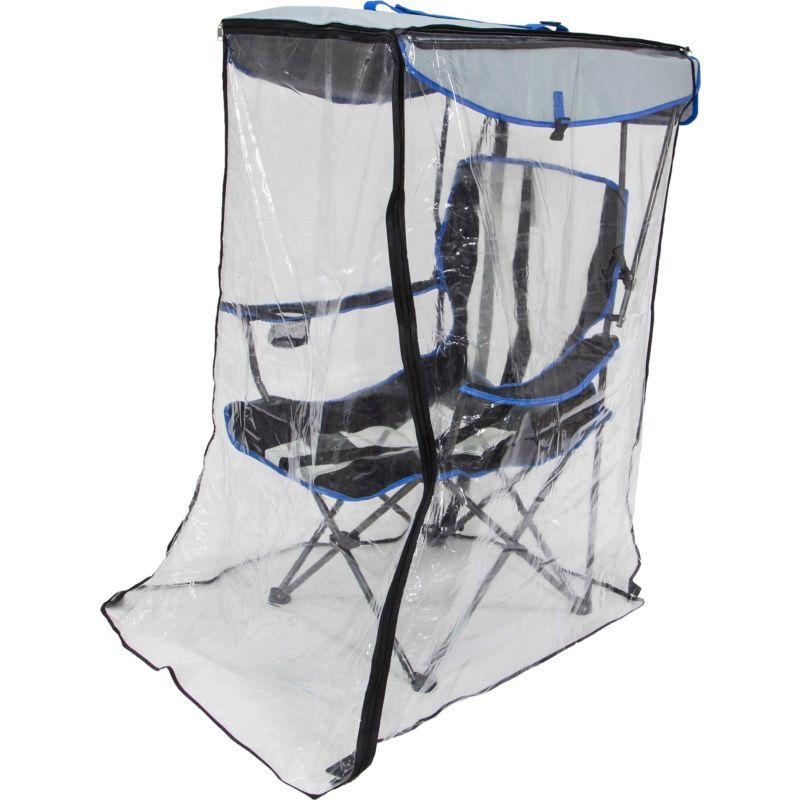 Kelsyus Original Canopy Chair With Weather Shield Black Camping