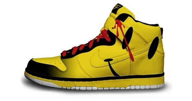 smiley face nike shoe design
