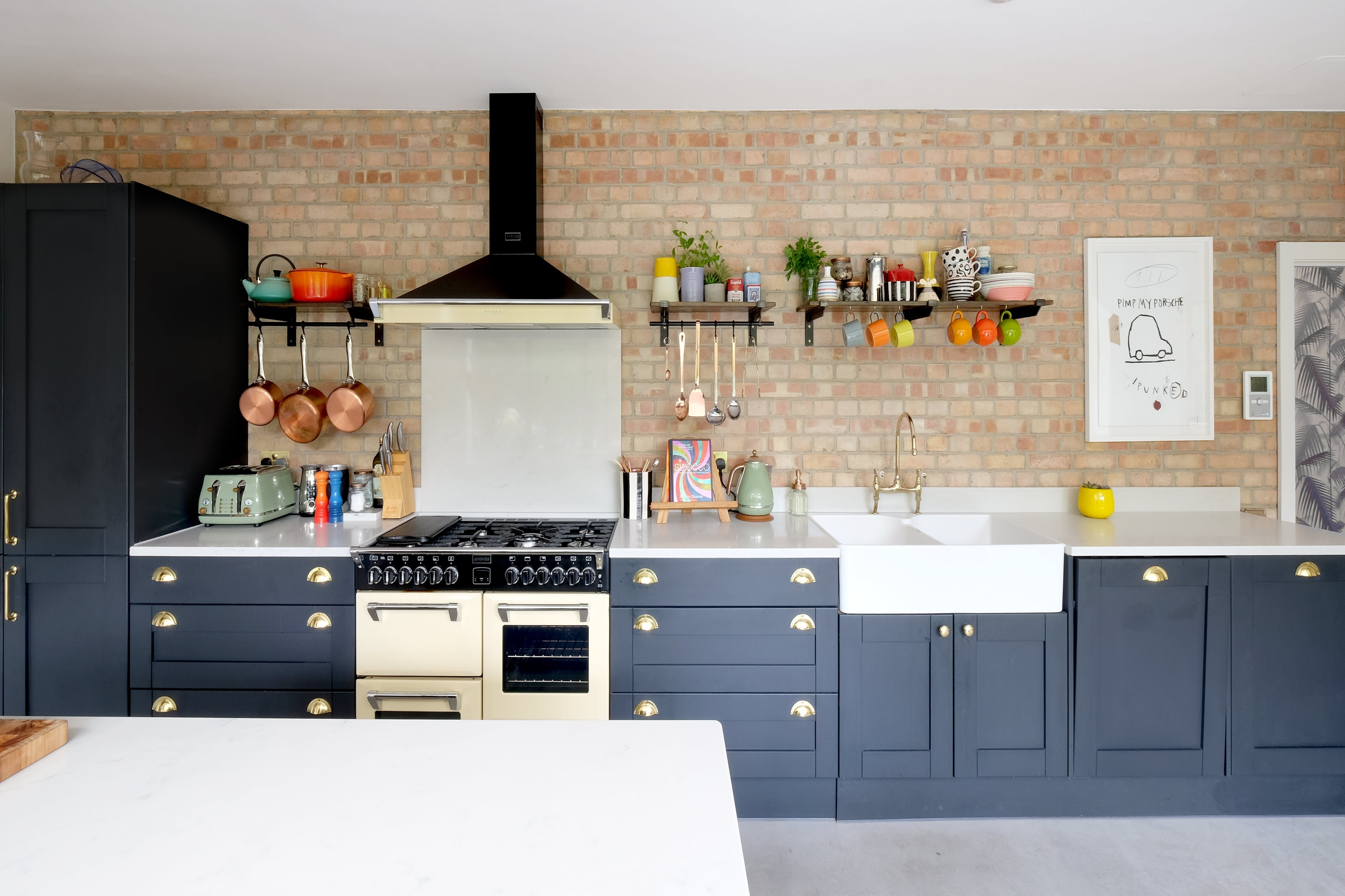 This Home Is Cool New York Loft Meets Chic London Flat Beautiful Kitchen Cabinets Painting Kitchen Cabinets New York Loft