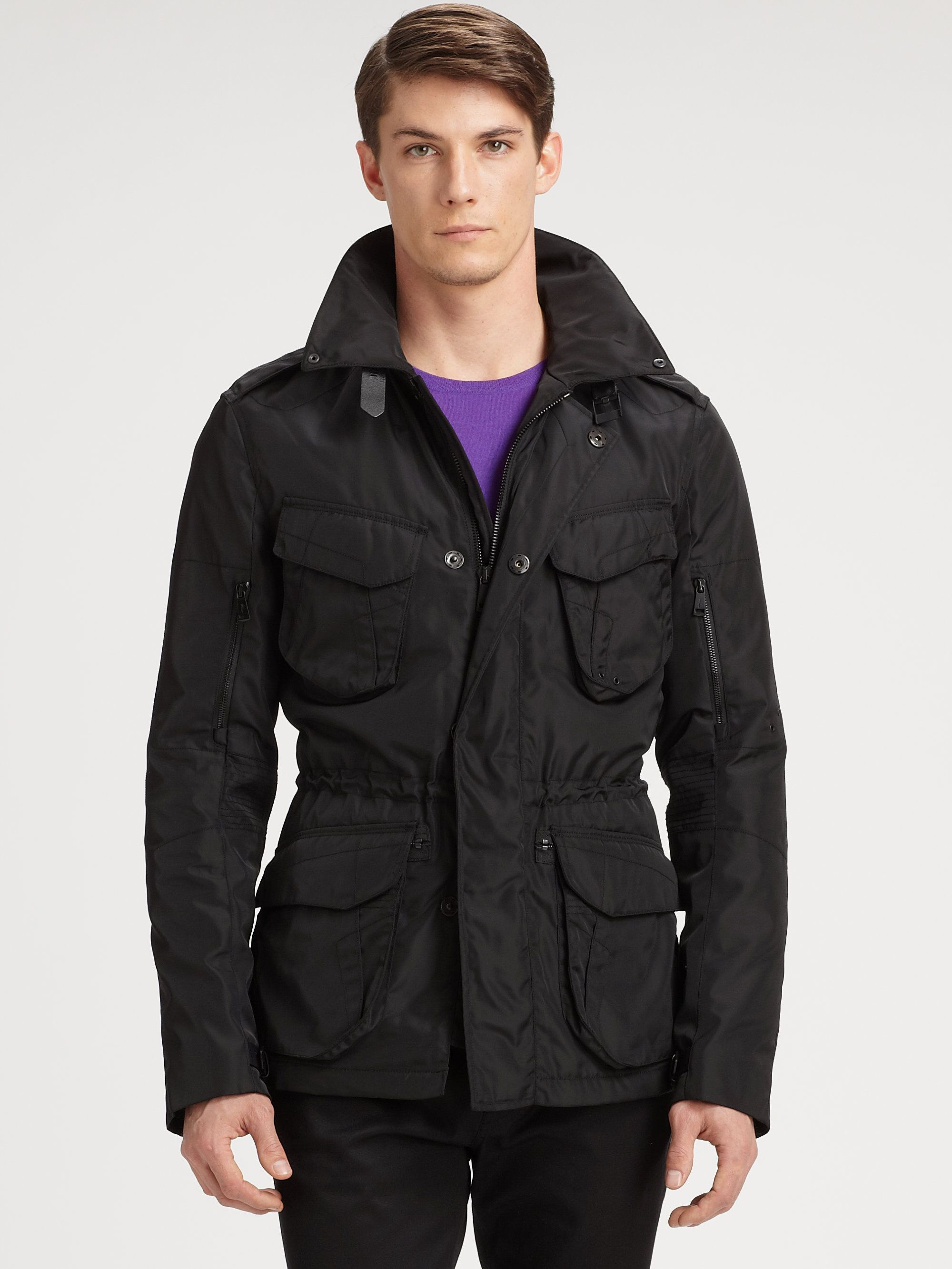 Ralph Lauren Black Label Denim Flight Bomber Jacket