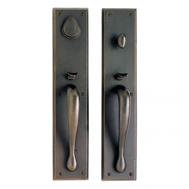 Luxury Black Front Entry Door Handle Set