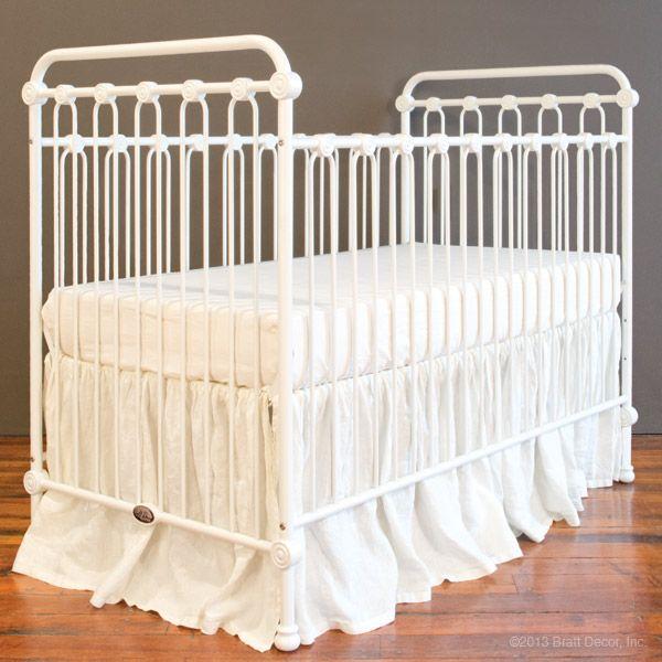 Joy Baby Crib Distressed White Shabby Chic Nursery Ideas
