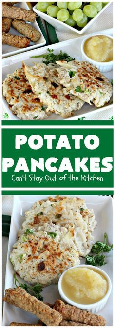 A Healthy Breakfast: Potato Pancakes | Can't Stay Out of the Kitchen | this vintage is a keeper! It's great to serve for or Serve with ketchup or the condiments of your choice.