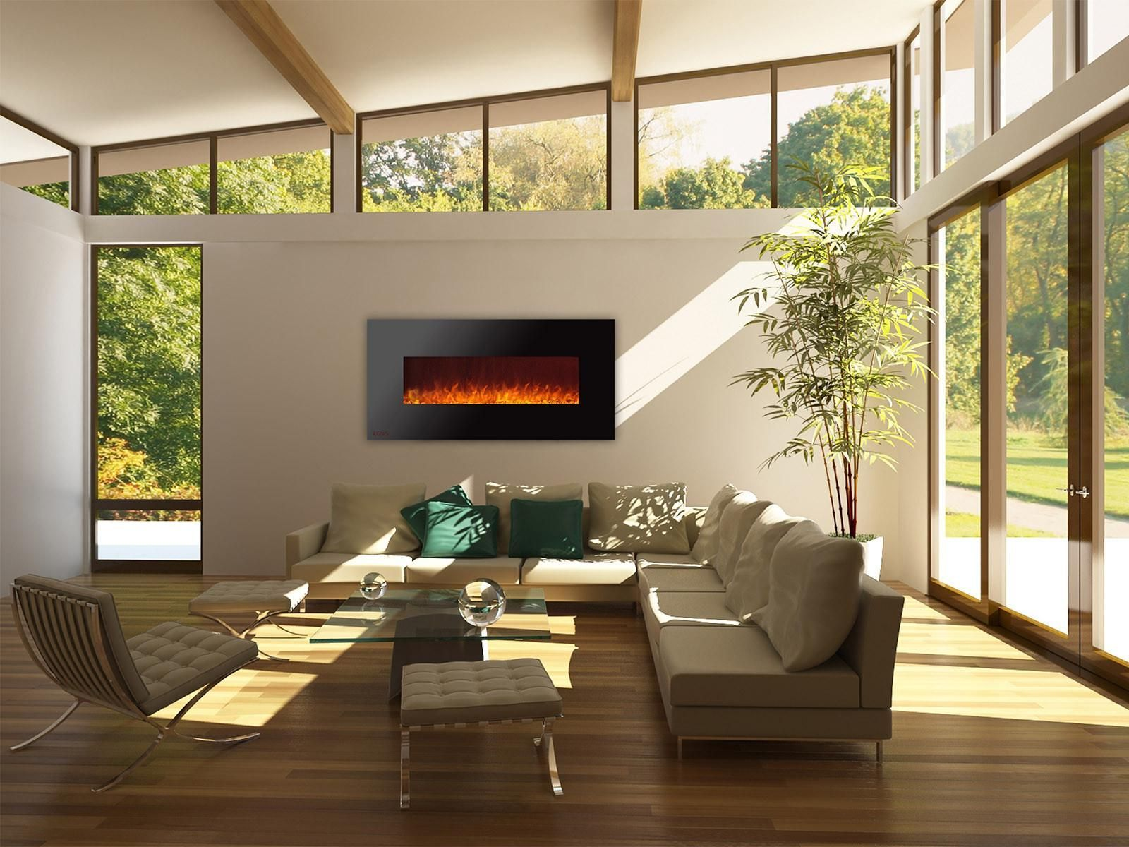 royal 60 inch electric fireplace with crystals home interior