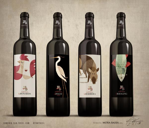 Tenuta Mora Bassa  Wine Label Illusteations By Riccardo Guasco