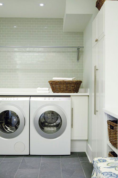 Luxury Laundry Room Basement