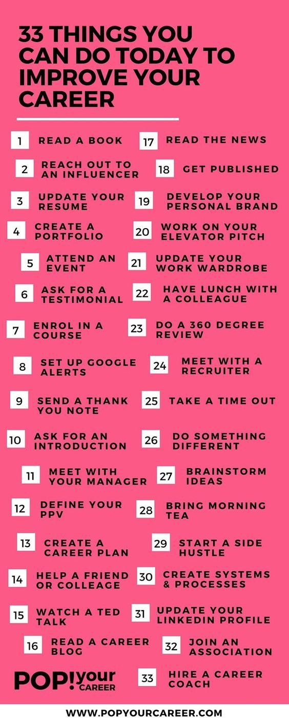 33 Things You Can Do Today To Improve Your Career | Empresas