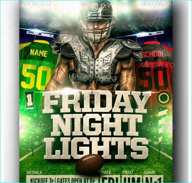 lights football flyer template party flyer templates for clubs