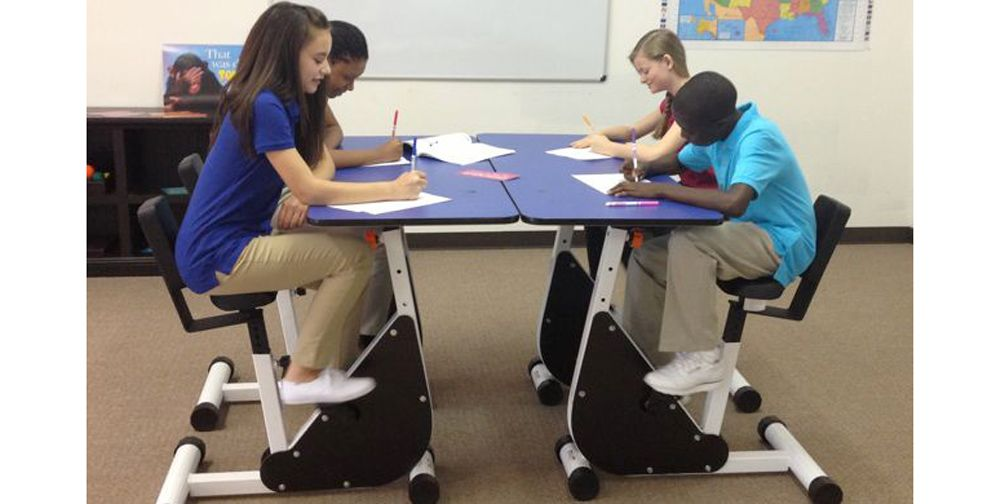 Desks Kids Learn Better With Pedal Http Www Bicycling Training Health Injuries Move Over Standing