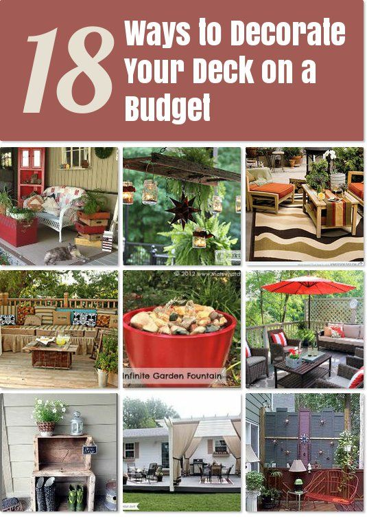 decorate your deck on a budget idea box by kristineteeny ideas