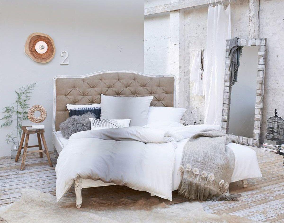 Vintage Bett Barock weiß 140 cm Vintage bett, Bett und