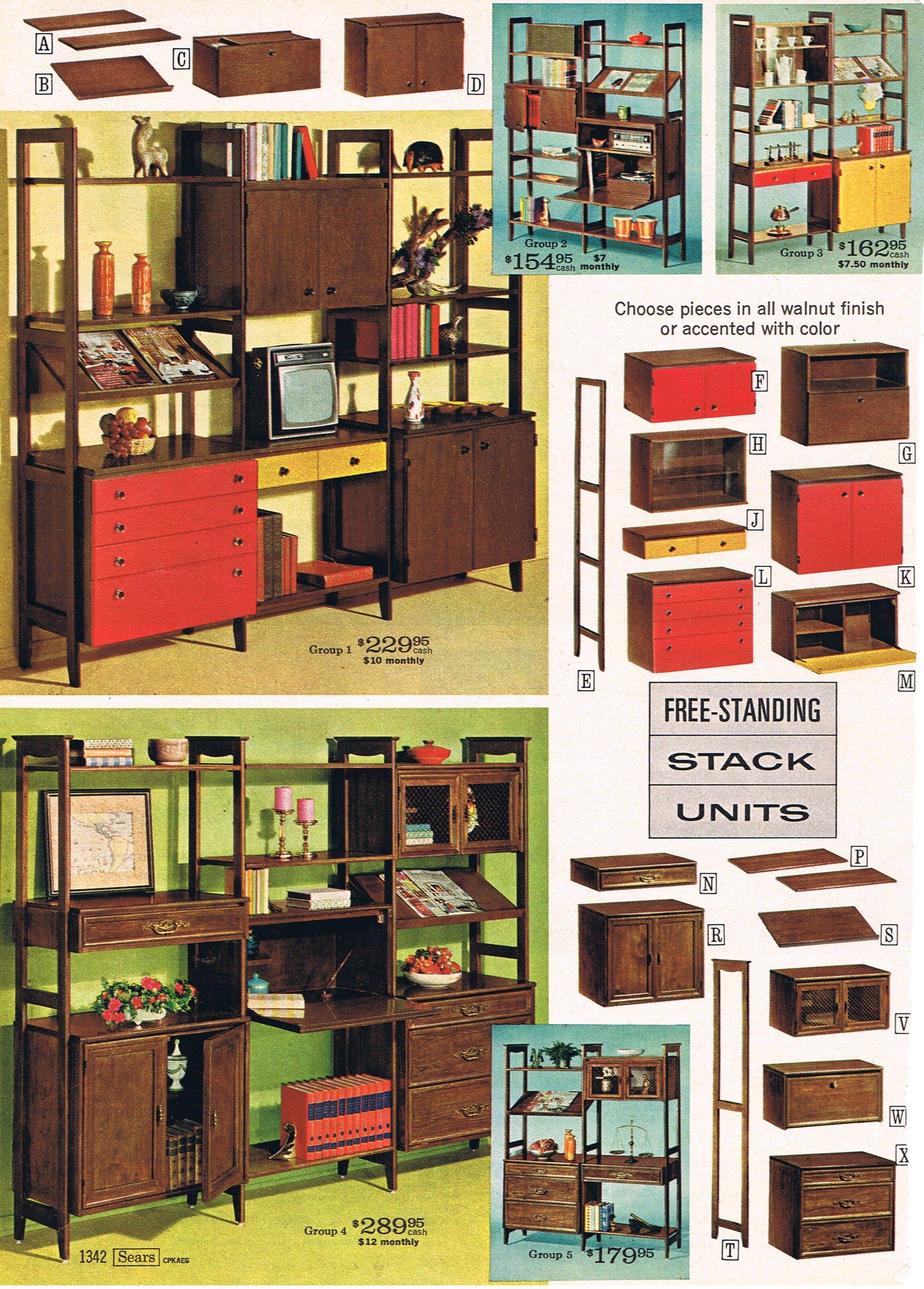 Modular wall unit love 1968