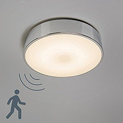 Qazqa Design Modern Bad Badezimmer Aussen Deckenleuchte Deckenlampe Motion Ii Aluminium Led Mit Mikrowel Led Deckenlampe Mit Bewegungsmelder Deckenlampe
