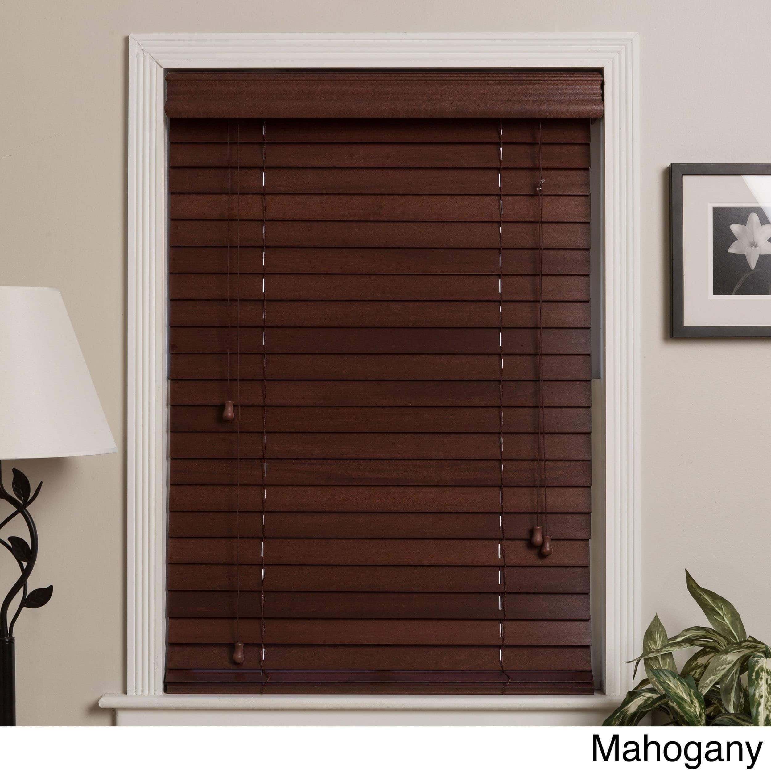 Arlo Blinds Customized Real Wood 72 Inch Window Blinds 72 Inch