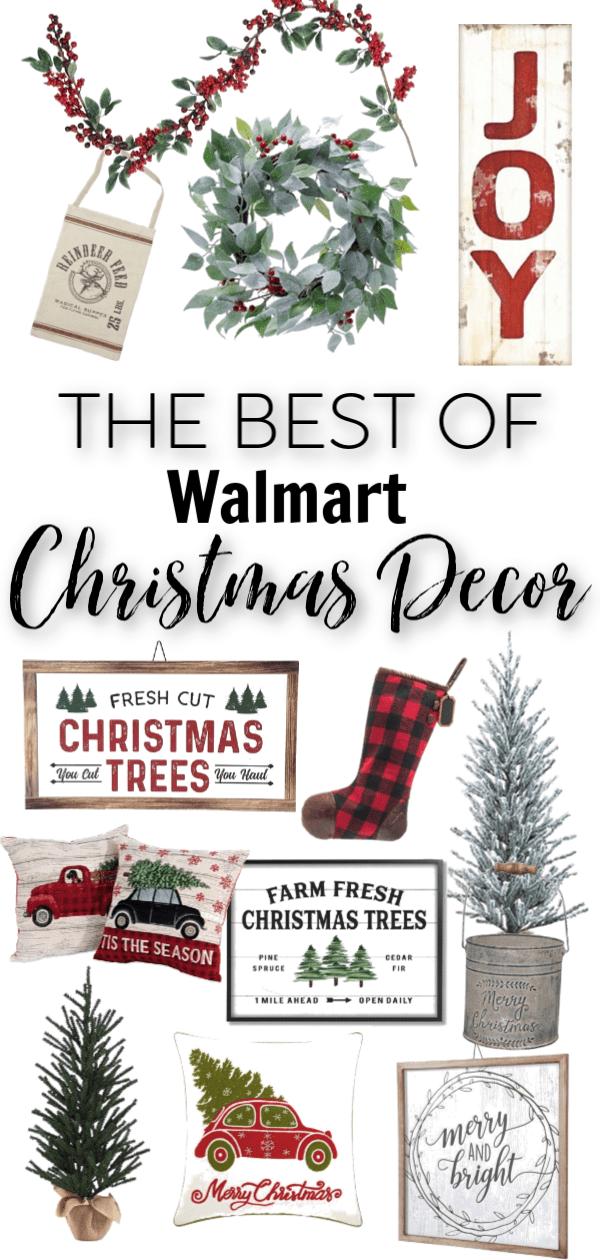 Budget Friendly Christmas Decor At Walmart Farmhouse Christmas