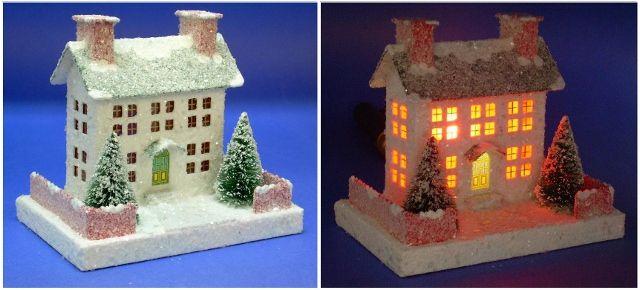 story finished   putz housesgingerbread also cardboard buildings pinterest rh in
