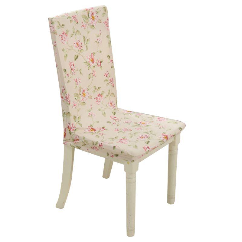 الأزهار نمط نمط حالة متعددة الوظائف كرسي الزفاف غطاء كرسي فندق الطعام تمتد مطاطا دنة البوليستر القماش Dinning Chairs Home Textile Cheap Chair Covers