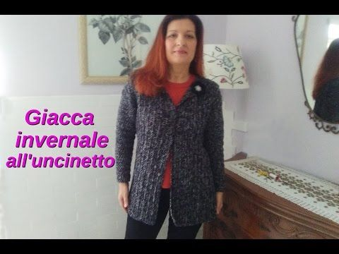 GIACCA UNCINETTO INVERNALE facilissima CROCHET JACKET VERY EASY - YouTube