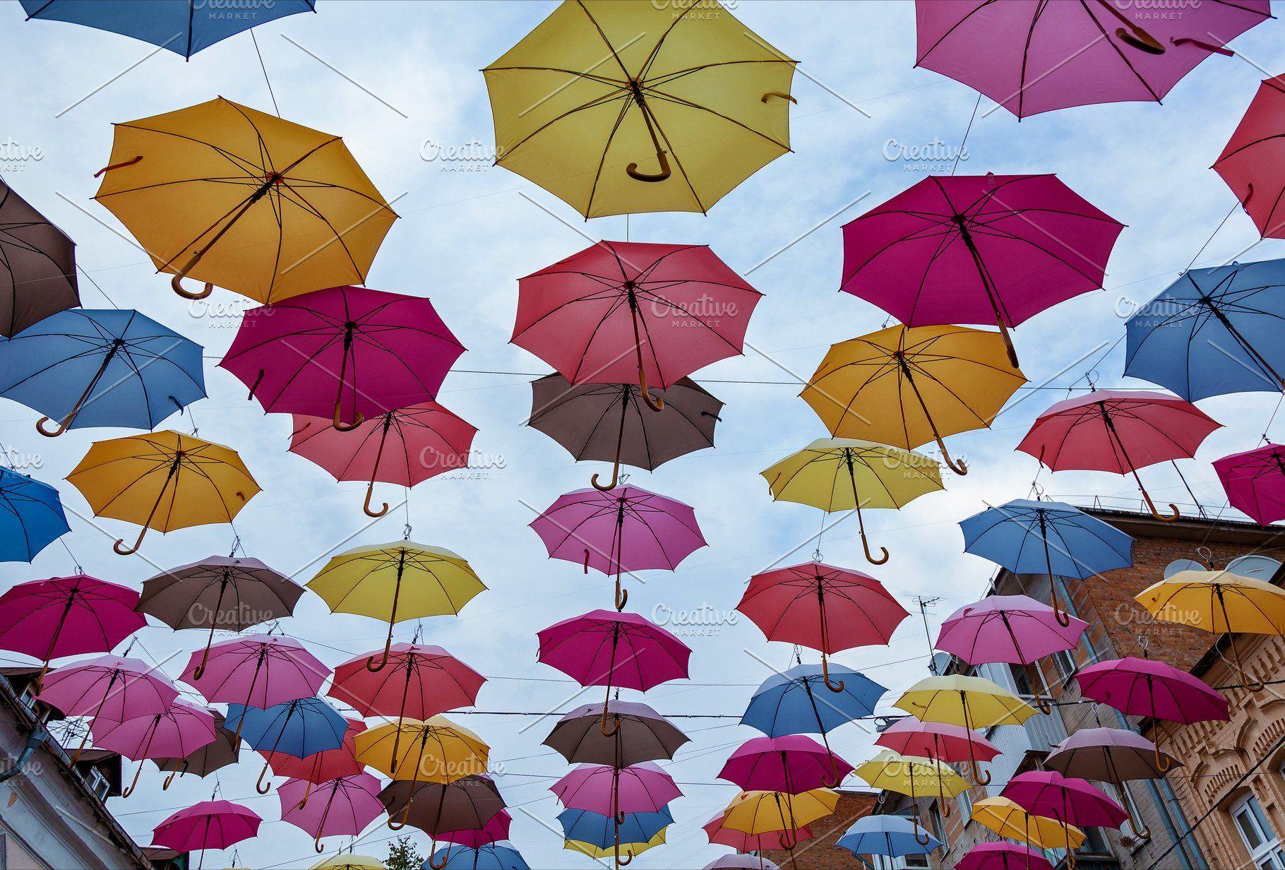 colorful umbrella roof colorful