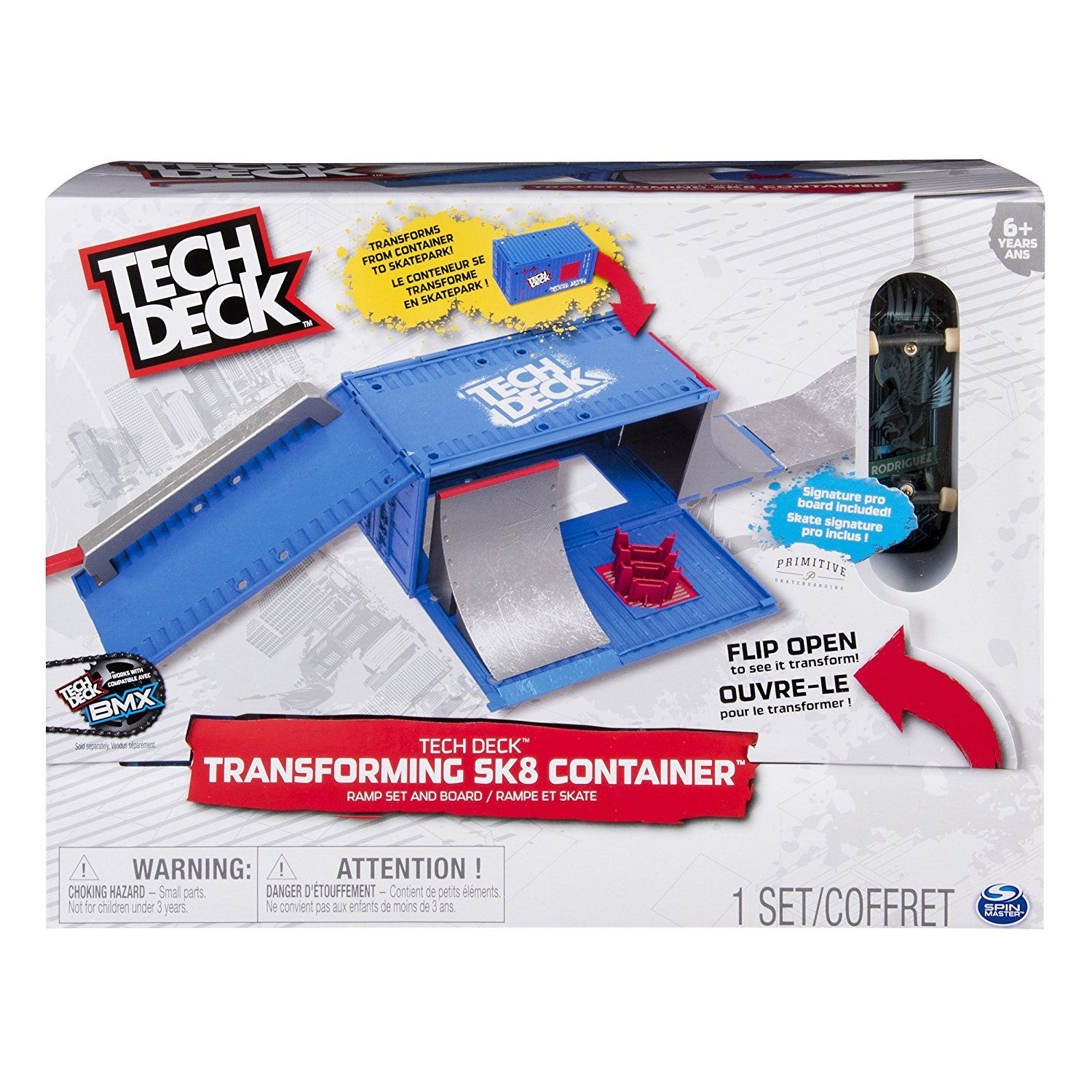 Tech Deck Transforming SK8 Container with