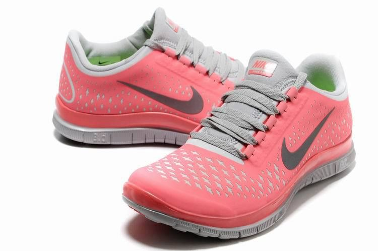 official photos f450e 0ce6f Nike Free 3.0 V4 Women s running Pink Grey shoes