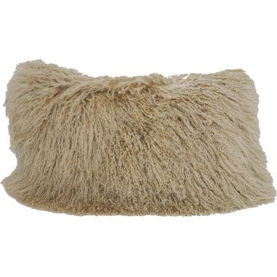 Trophy Room Stuff Tibetan Wool Lumbar Pillow Color: Champagne