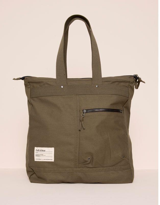 Pull&Bear - hombre - bolsas y carteras - bolso shopper masculino - kaki - 05821505-V2016