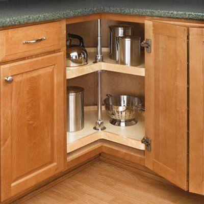 New Wood Lazy Susan Corner Cabinet