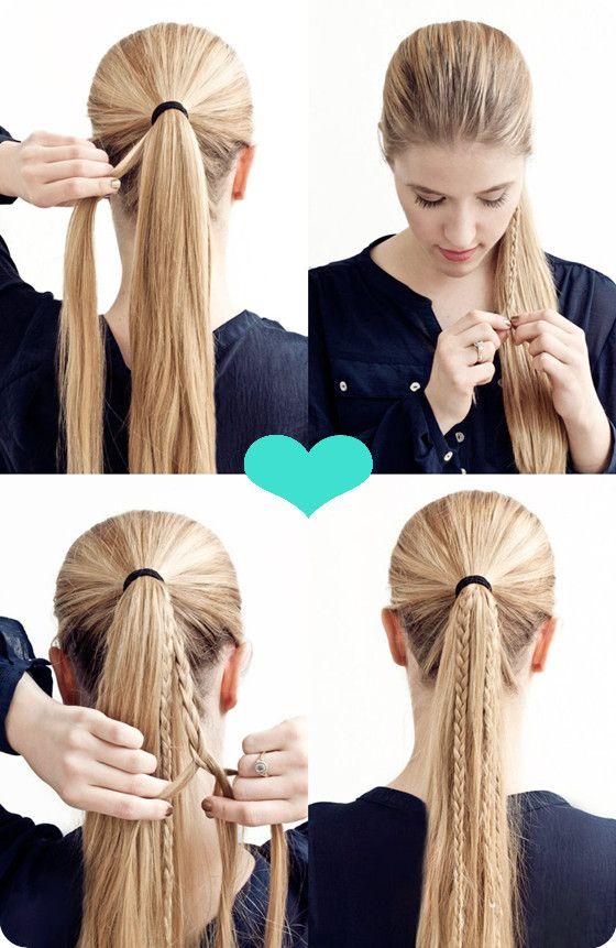 pferdeschwanz zopf hair tutorial frisuren pinterest