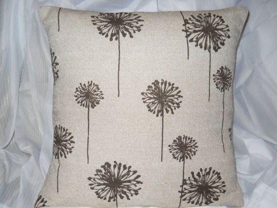 Dandelion Pillow Cover Decorative Pillow by EllensHomeAndVintage, $28.00