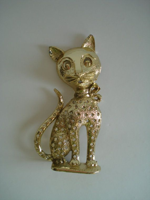 sweet vintage cat earring holder kitty holder jewelry holder