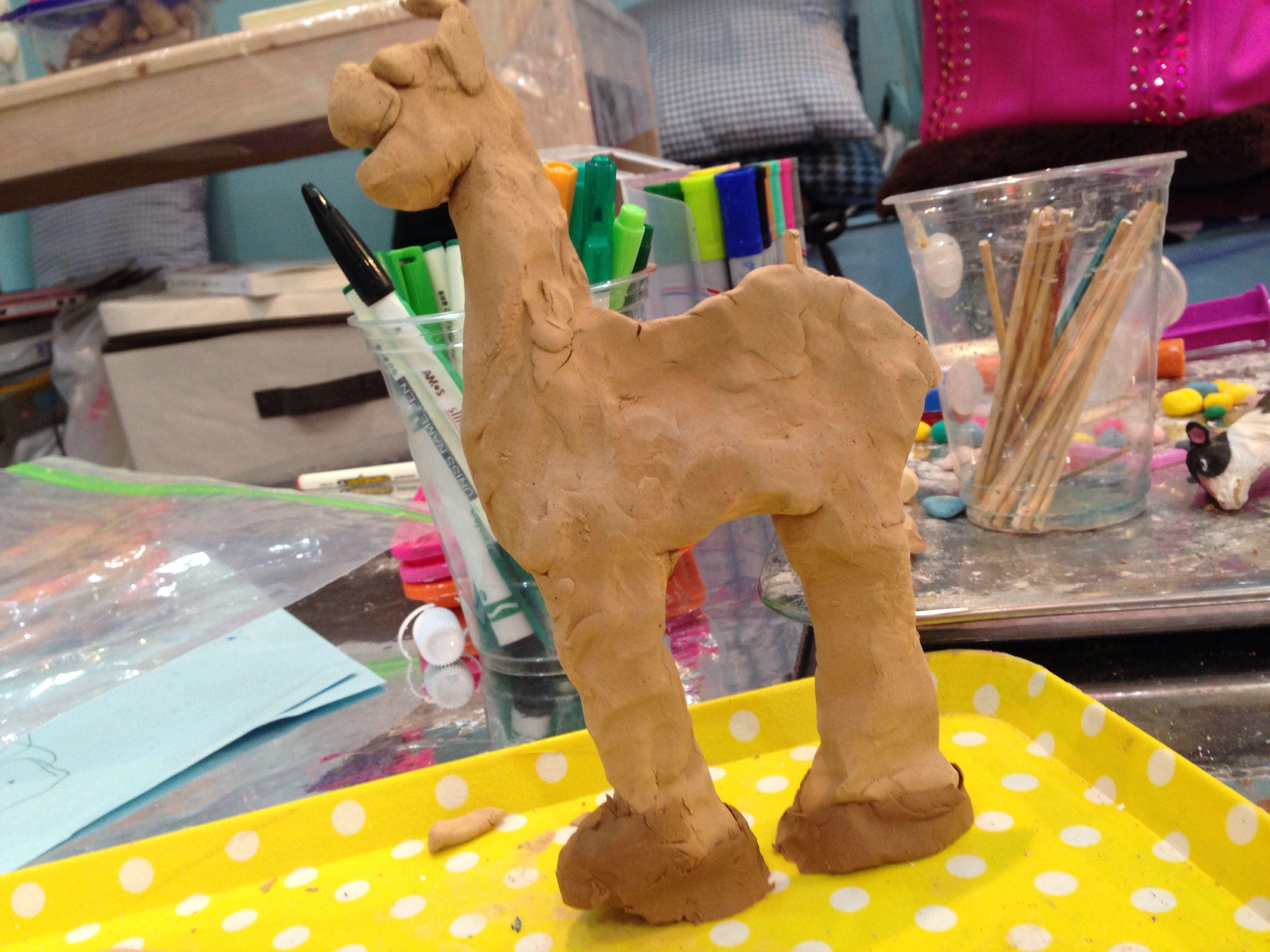 looks like a horse but a giraff.